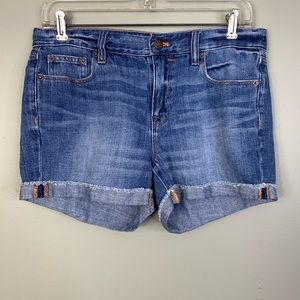 J crew denim shorts cut off size 27